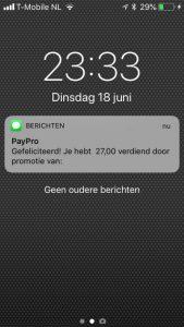 paypro bewijs inkomsten 3