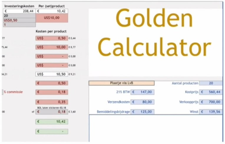 bol masterclass golden calculator