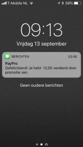 paypro bewijs inkomsten 5